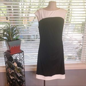 Lauren Ralph Lauren black & white cocktail dress